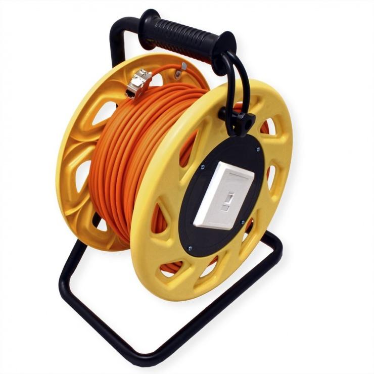 Imagine Rola cablu de retea Cat.6A S/FTP 60m, Roline 21.15.0007-3