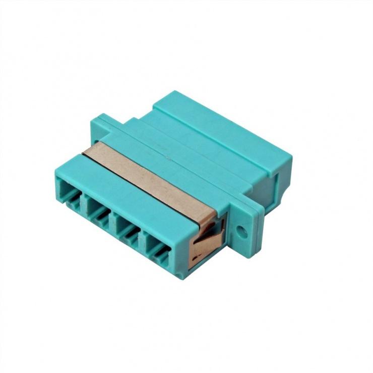 Imagine Adaptor fibra optica LC-LC OM3 cvadruplu, Value 21.99.0660-3