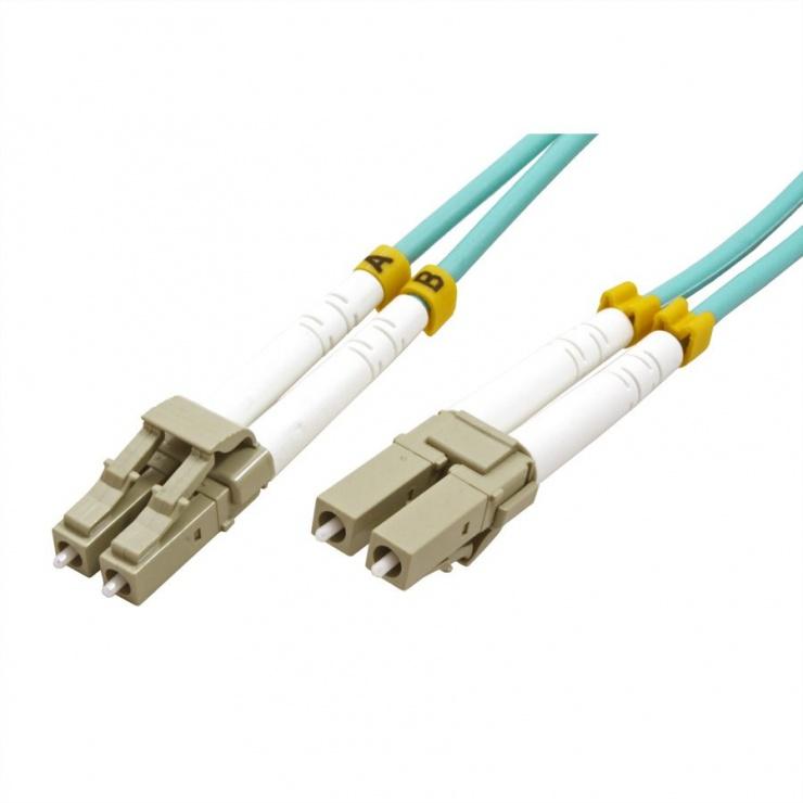 Imagine Cablu fibra optica LC-LC OM3 duplex multimode 15m, Value 21.99.8706-1