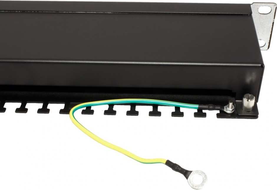 Imagine Patch Panel STP Cat.5e 24 porturi, ecranat, negru, Value 26.99.0328-2