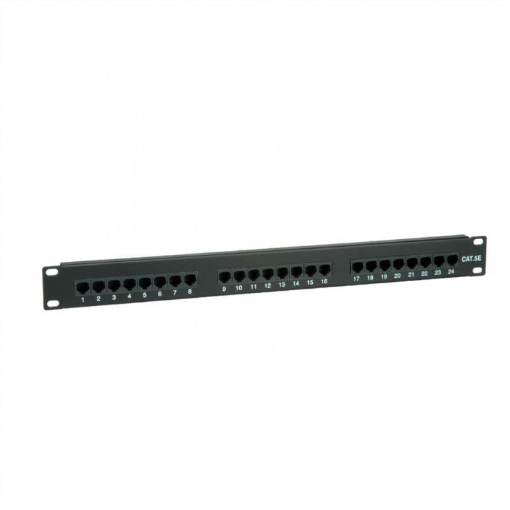 Imagine Patch Panel UTP Cat.5e 24 porturi, negru, Value 26.99.0349