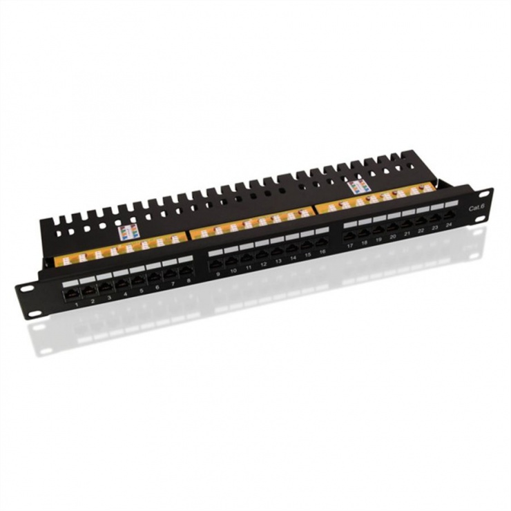Imagine Patch Panel Value UTP Cat.6, 24 porturi, negru, 26.99.0362-1
