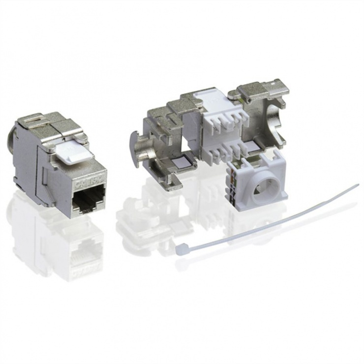 Imagine Keystone modular Value Cat.6a RJ-45 ecranat, 26.99.0366-2