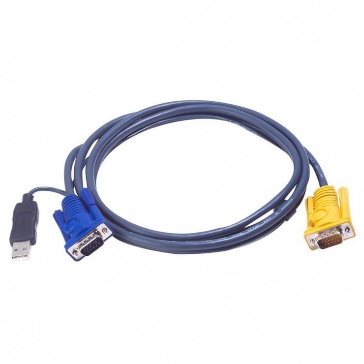 Imagine Cablu KVM USB-PS/2 SPHD 6m, ATEN 2L-5206UP