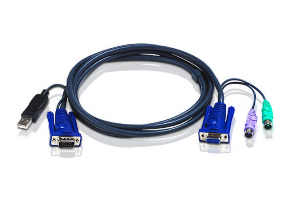 Imagine Cablu KVM USB-PS/2 6m, ATEN 2L-5506UP