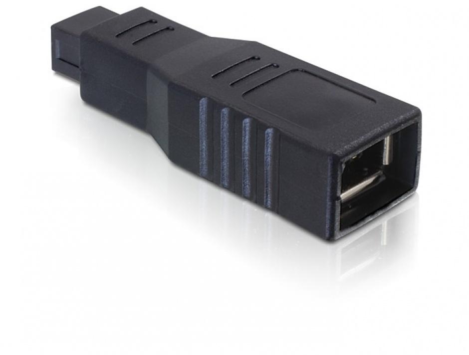 Imagine Adaptor FireWire 9 pini la 6 pini T-M, Delock 65154-1