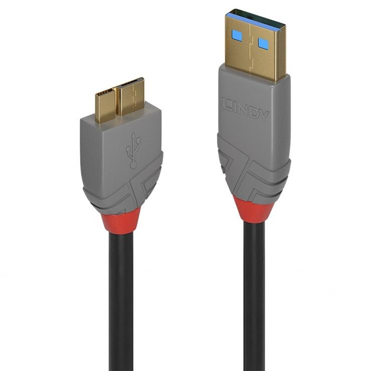 Imagine Cablu USB 3.0 la micro USB-B T-T 0.5m Anthra Line, L36765