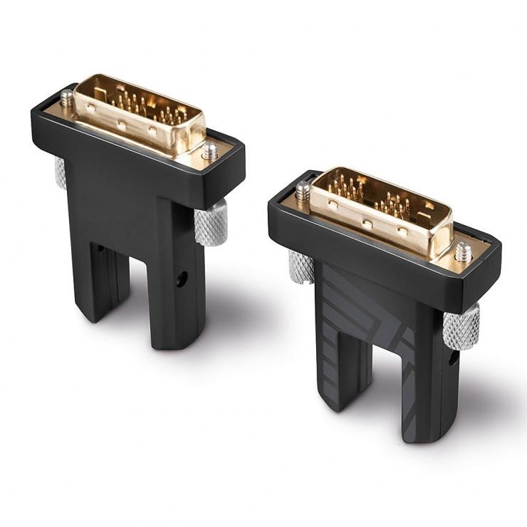 Imagine Cablu micro HDMI v2.0 4K60Hz Fibra optica Hybrid HDR - conectori HDMI, DVI detasabili T-T 20m, Lindy