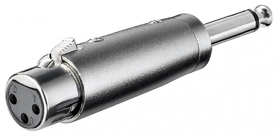 Imagine Adaptor jack mono 6.35mm la XLR T-M, KJACKXLR08