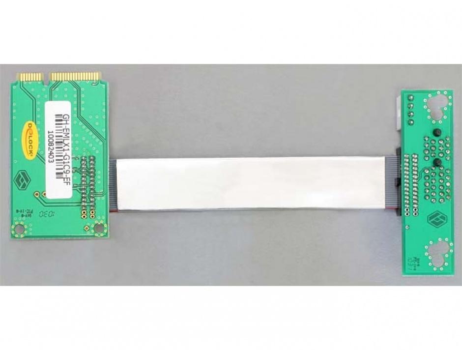 Imagine Riser card Mini PCI Express la PCI Express x1 insertie stanga, Delock 41305