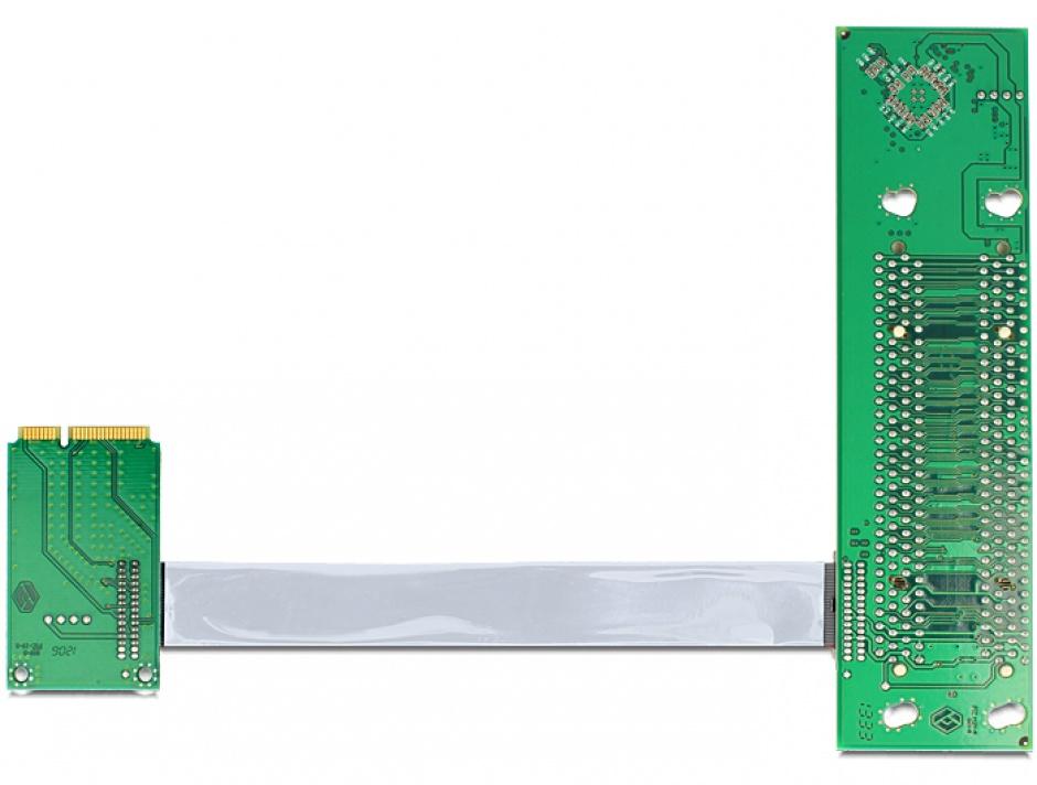 Imagine aRiser Card Mini PCIe la 2 x PCI 32Biti 5V cablu flexibil, Delock 41355