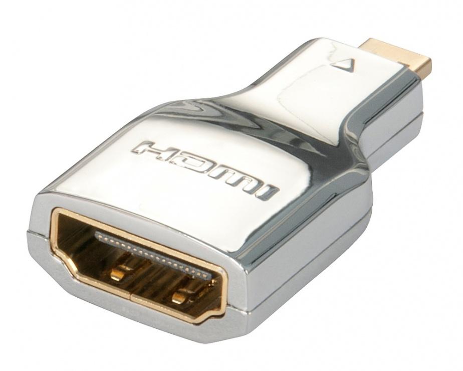 Imagine Adaptor HDMI la micro HDMI-D CROMO M-T, Lindy L41510-1