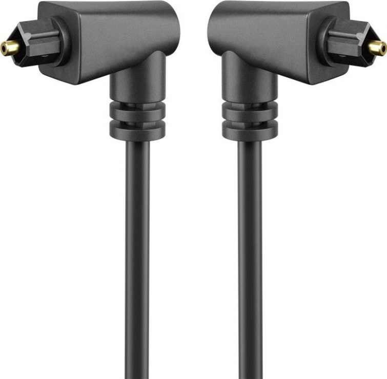 Imagine Cablu audio optic Toslink unghi 90 grade 2m, Goobay 41593