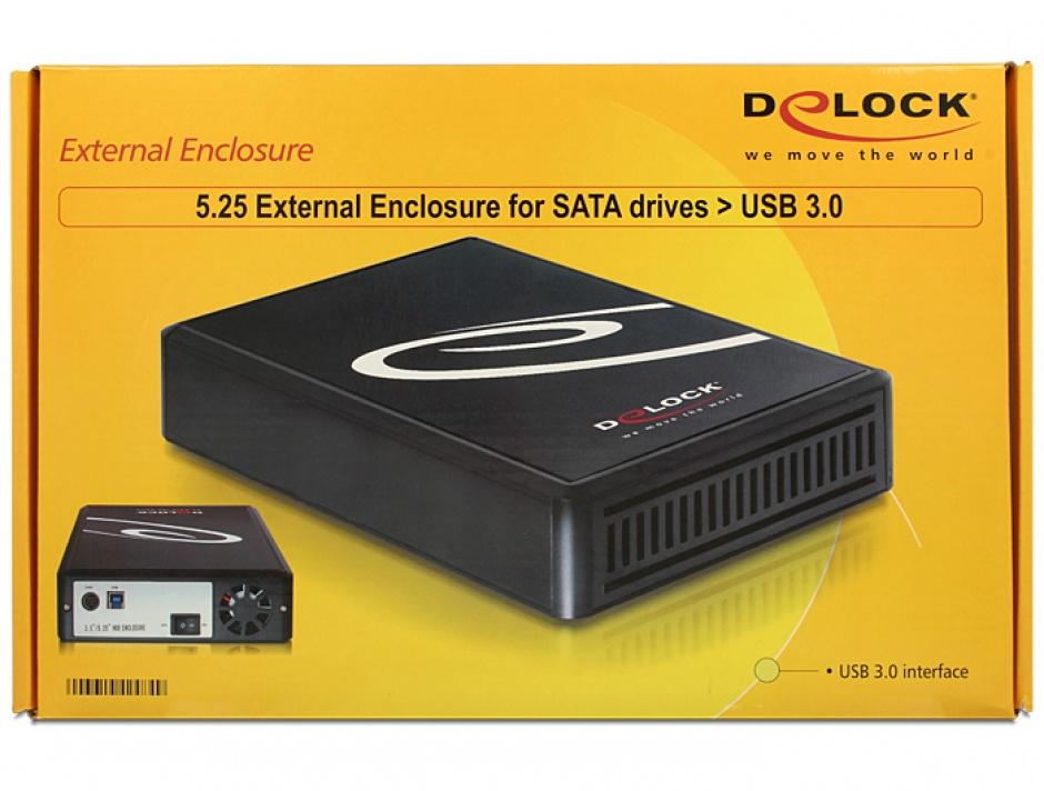 """Imagine Rack extern 5.25"""" SATA la USB 3.0, Delock 42484"""