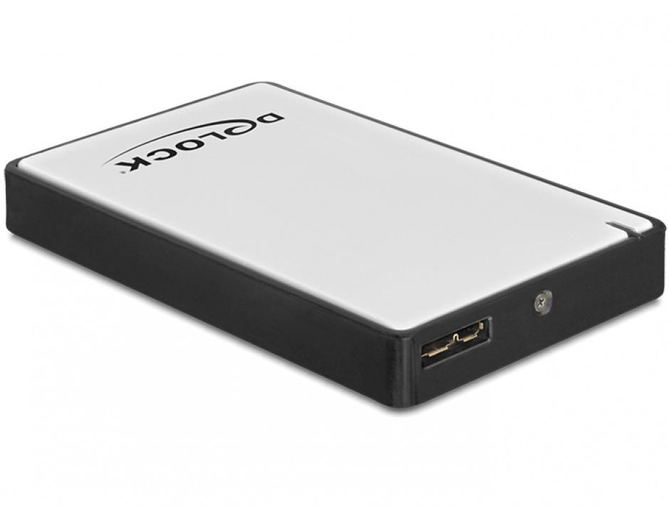 """Imagine Rack Extern 1.8"""" micro SATA HDD/SSD la USB 3.0, Delock 42487"""