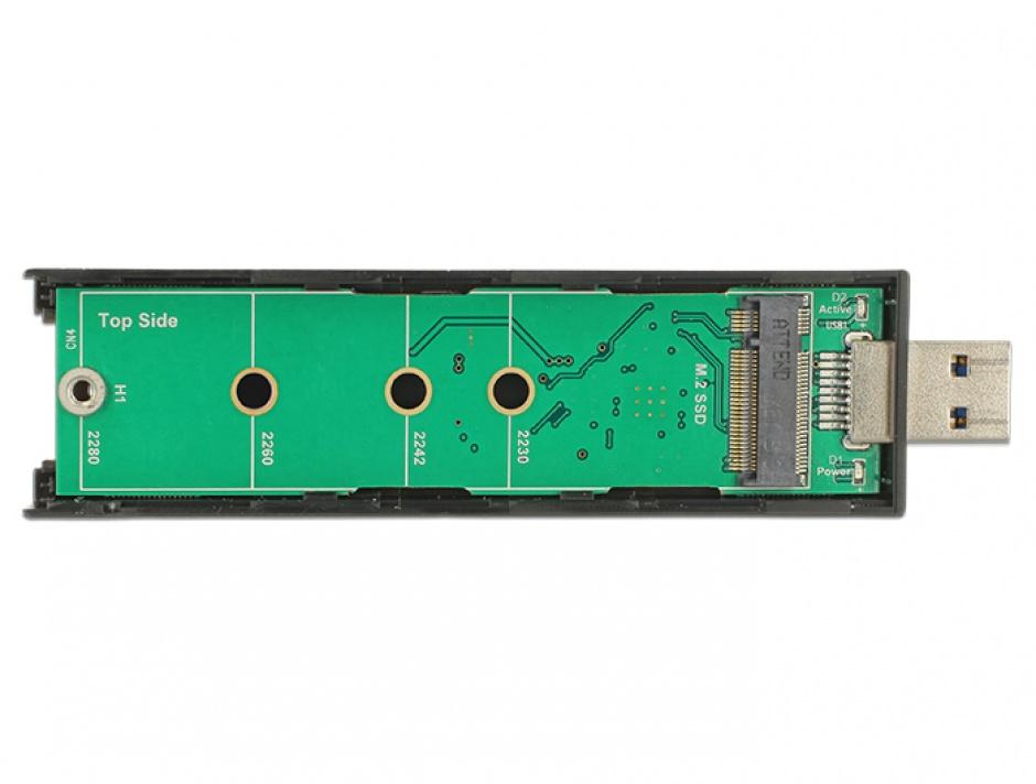 Imagine Rack extern pentru SSD M.2 Key B 80 mm la USB 3.1, Delock 42593
