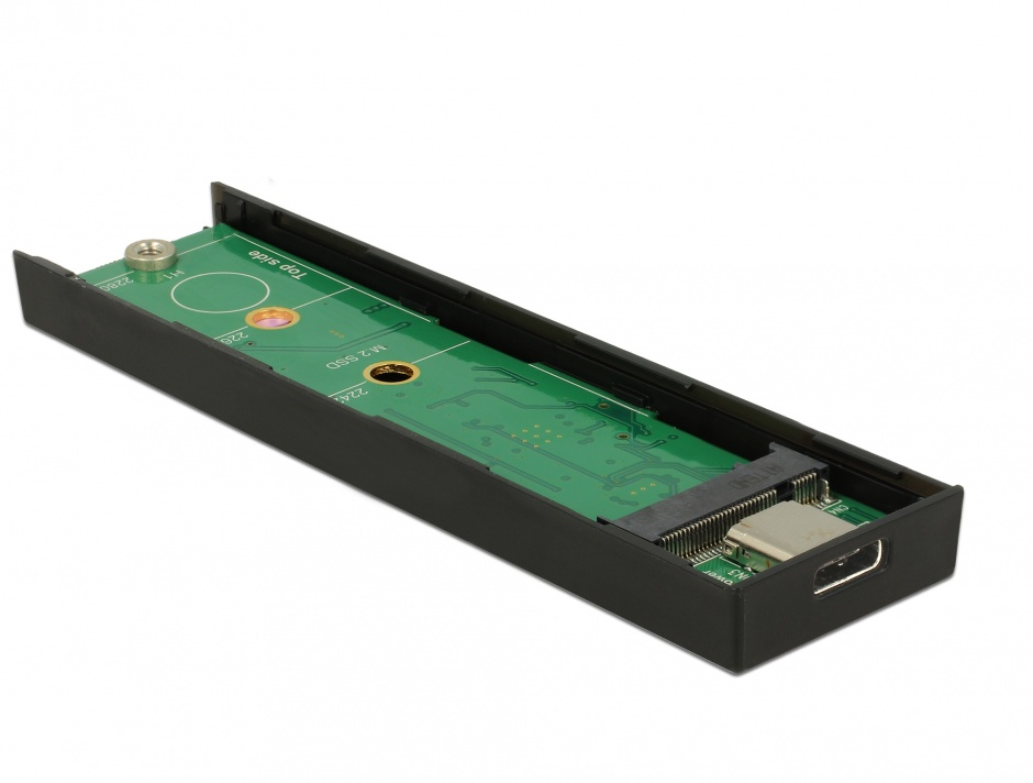Imagine Rack extern toolless M.2 SSD 42/60/80 mm la USB 3.1 tip C Gen 2, Delock 42597