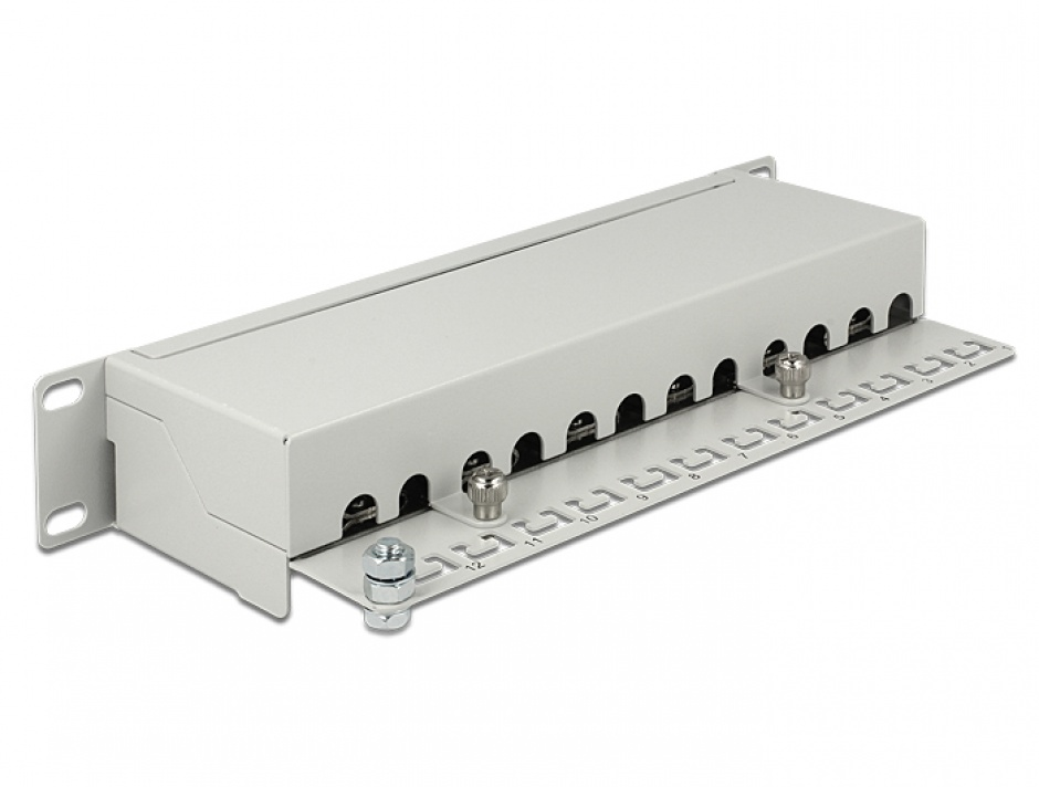 "Imagine Patch Panel 10"" 12 porturi Cat.6A gri, Delock 43308"