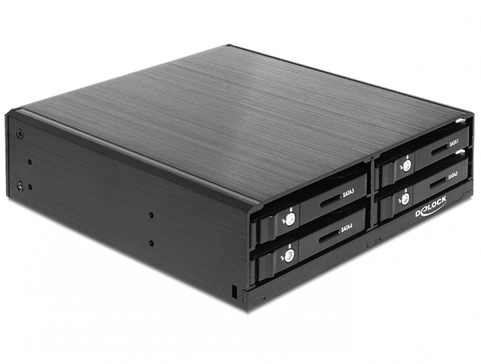 "Imagine Rack Mobil pentru 4 x HDD SATA/SSD 2.5"", Delock 47220"