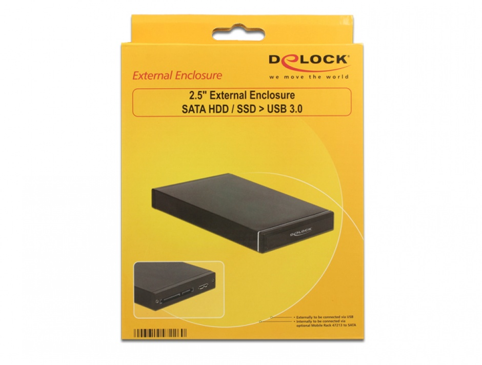 """Imagine Rack extern 2.5"""" pentru SATA HDD / SSD la USB 3.0 (pana la 9.5 mm), Delock 47226"""