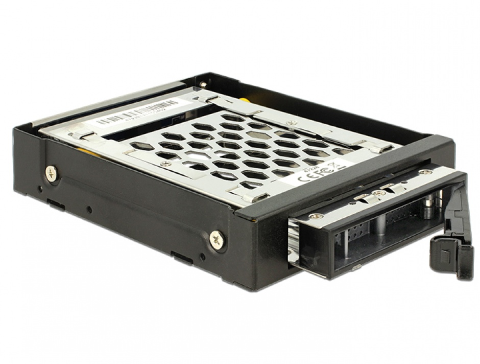 "Imagine Rack mobil 3.5"" pentru 1 x 2.5"" SATA / SAS HDD / SSD cu protectie la vibratii, Delock 47228"