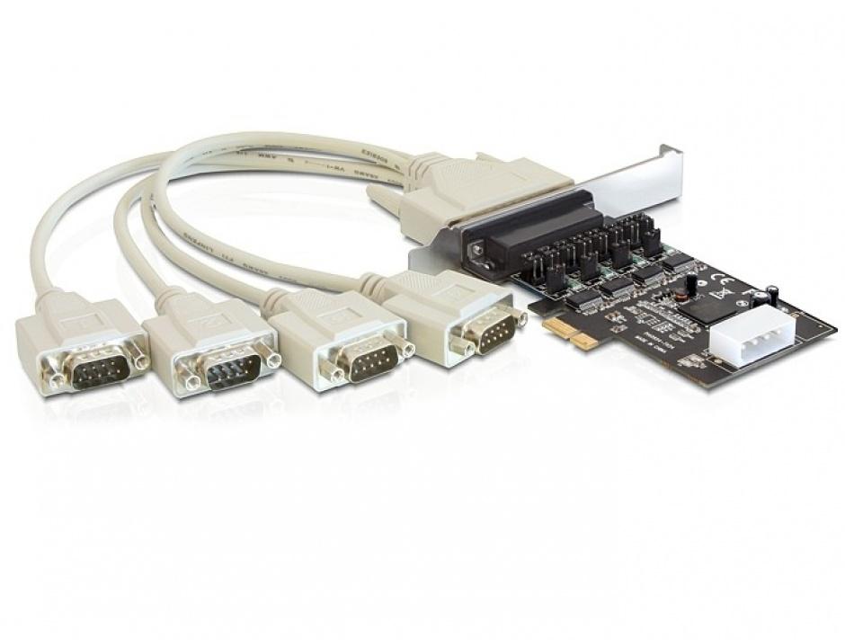 Imagine Placa PCI Express la 4 x Serial RS232 Power Management, Delock 89306