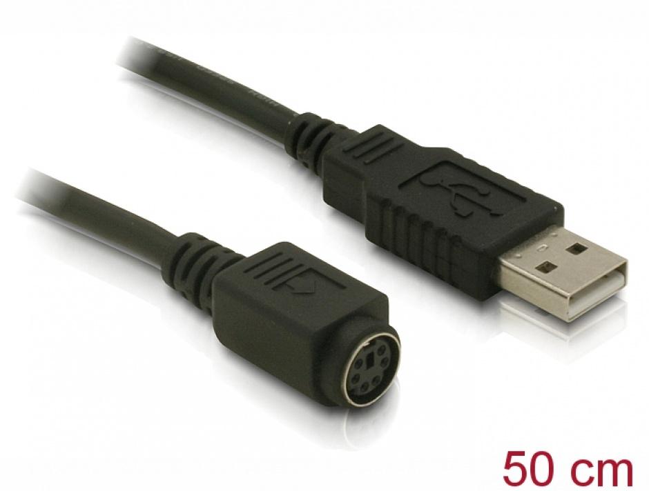 Imagine Cablu USB la Serial MD6 T-M, Delock 62405