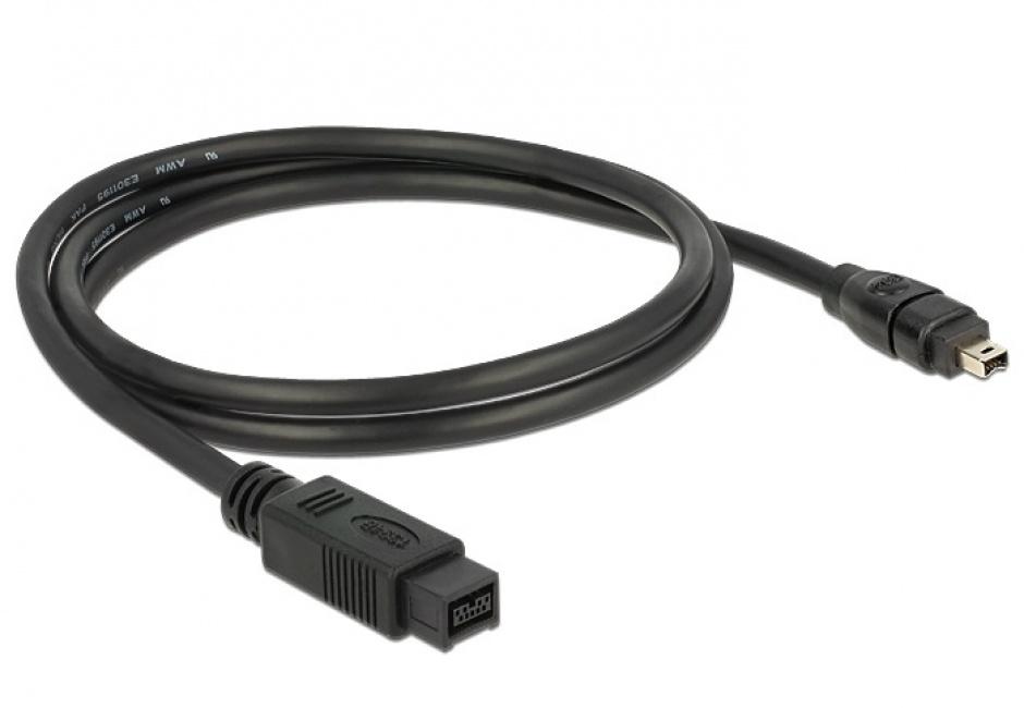 Imagine Cablu FireWire 9 pini la 4 pini 1m, Delock 82588-1