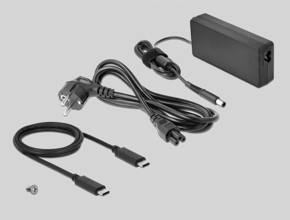 Imagine Docking Station USB-C la HDMI / Displayport v1.4 / USB 3.2 / Gigabit LAN / PD 3.0, Delock 87746