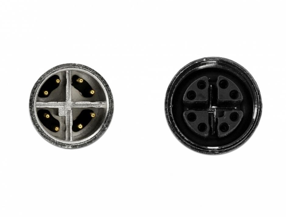 Imagine Cablu de retea M12 8 pini X-coded TPU 2m, Delock 85422-2