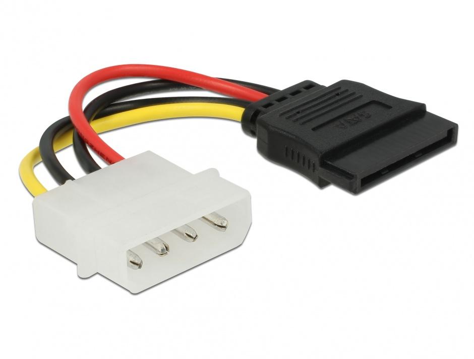 Imagine Cablu de alimentare SATA la Molex M-T 6cm, Delock 60112