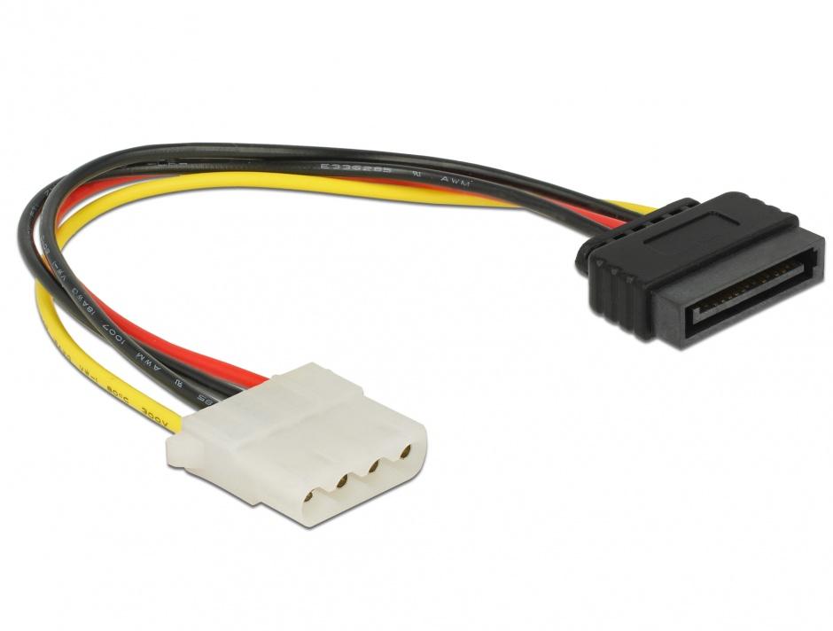 Imagine Cablu de alimentare SATA la Molex T-M 20cm, Delock 60136