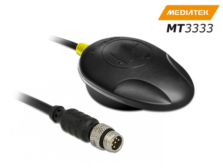 Imagine NL-3330 M8 Serial Multi GNSS Receiver MT3333 0.5m, Navilock 60325