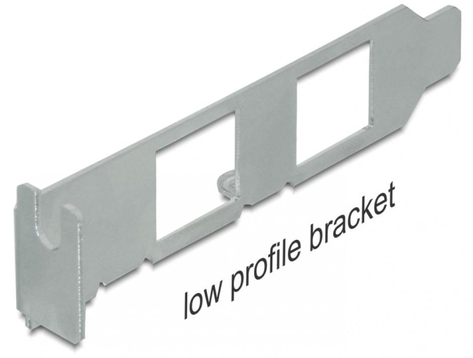 Imagine Rear bracket USB la 2 x PS/2, Delock 61589
