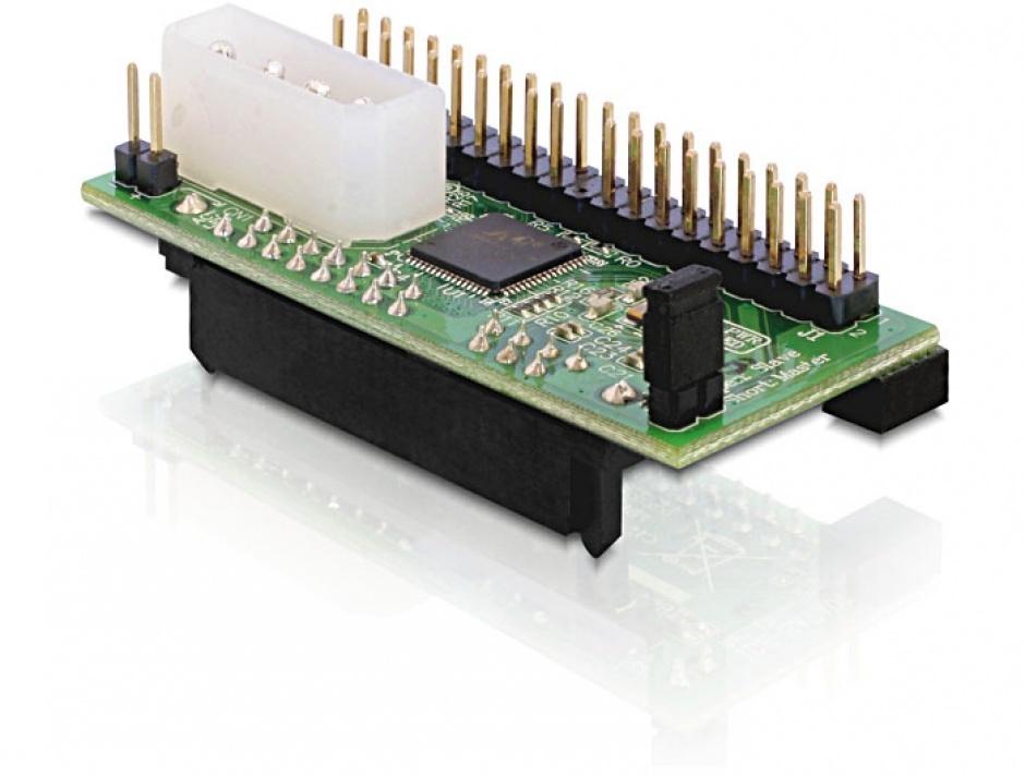 Imagine Convertor SATA la IDE 40 pini, Delock 61702