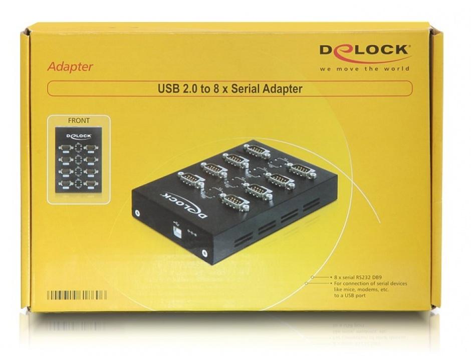 Imagine Adaptor USB la 8 porturi Serial RS232, Delock 61860