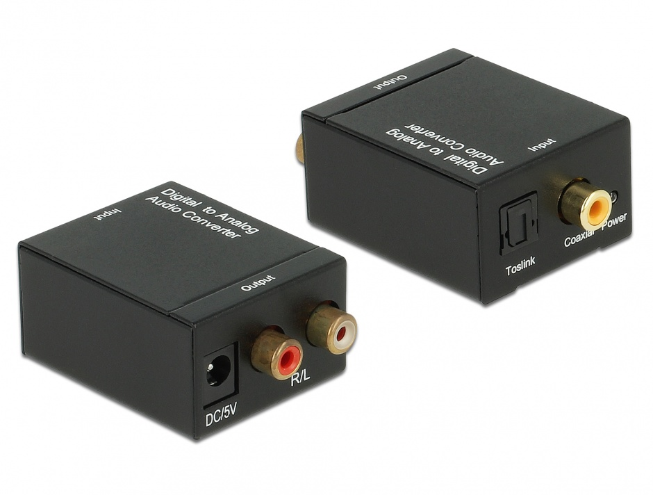 Imagine Convertor audio S/PDIF Digital la Analog RCA, Delock 62444