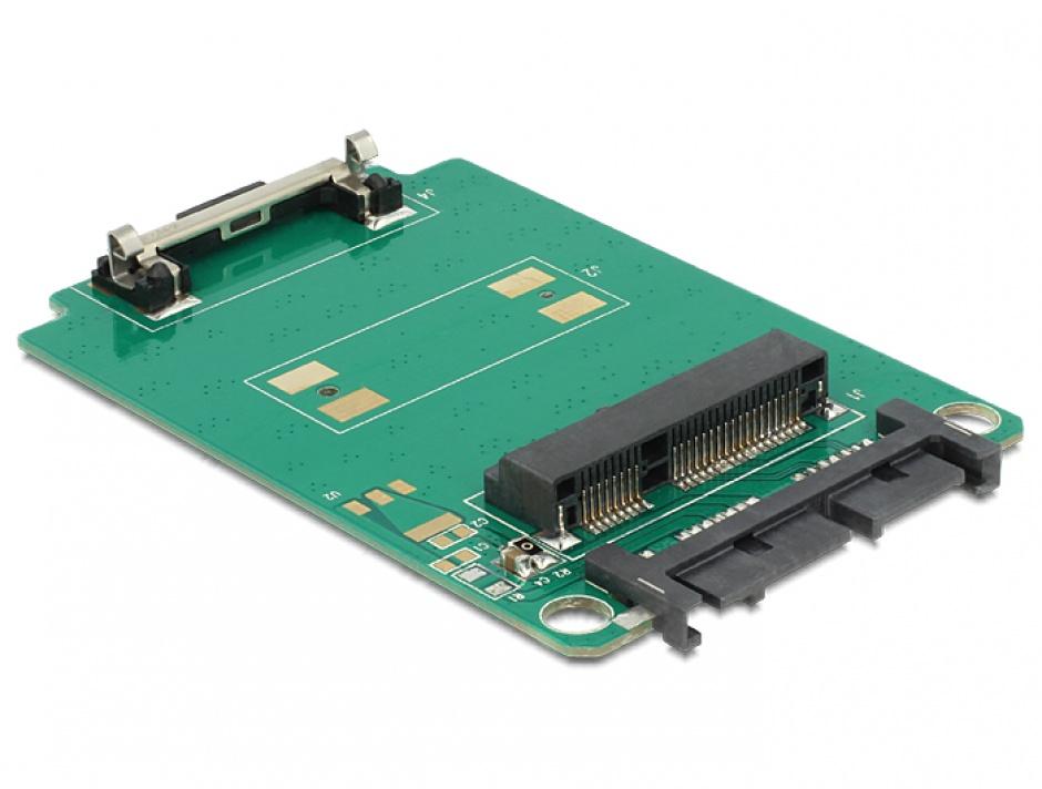 Imagine Adaptor Micro SATA 16pini la mSATA full size, Delock 62520