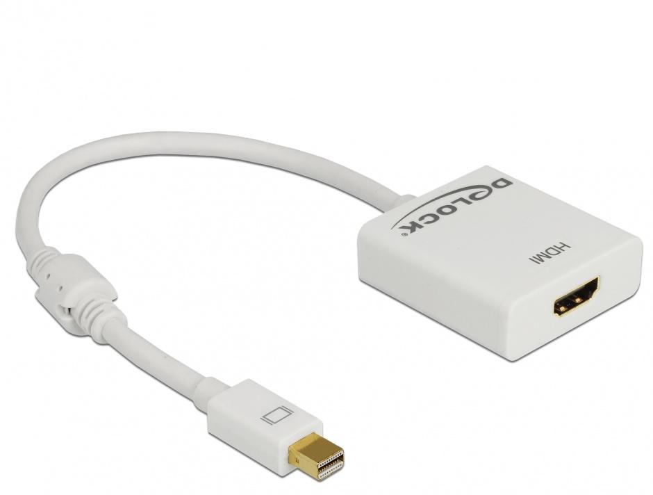 Imagine Adaptor mini Displayport la HDMI T-M 1.2 4K Activ Alb, Delock 62612