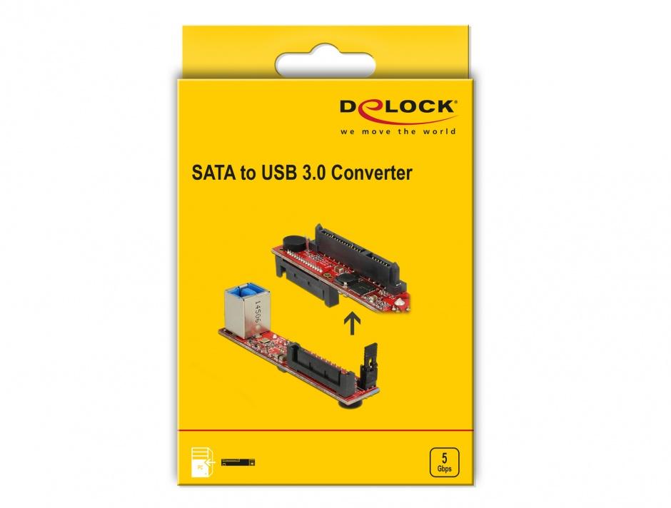 Imagine Convertor SATA 6 Gb/s la USB 3.0-B, Delock 62652