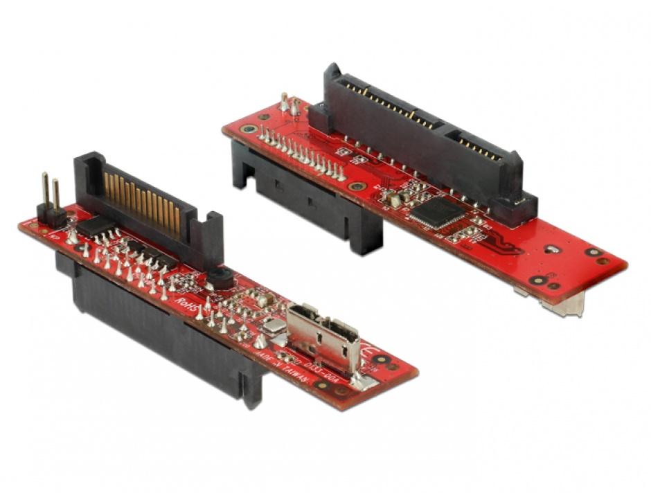 Imagine Convertor SATA 6 Gb/s la micro USB-B 3.1 T-M, Delock 62679