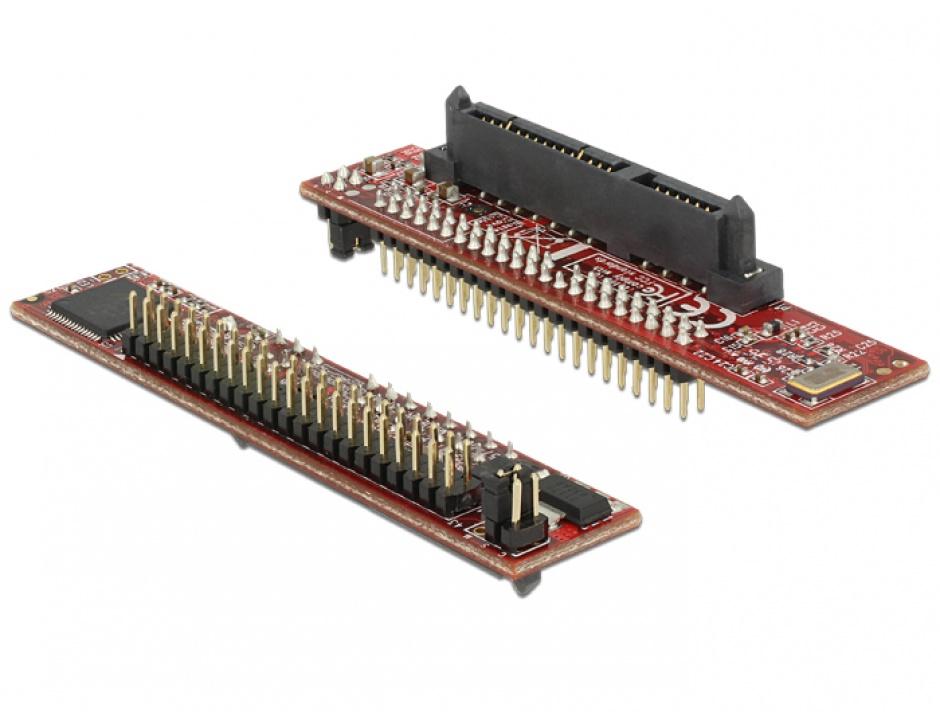 Imagine Adaptor SATA 22 pini la IDE 44 pini M-T, Delock 62686