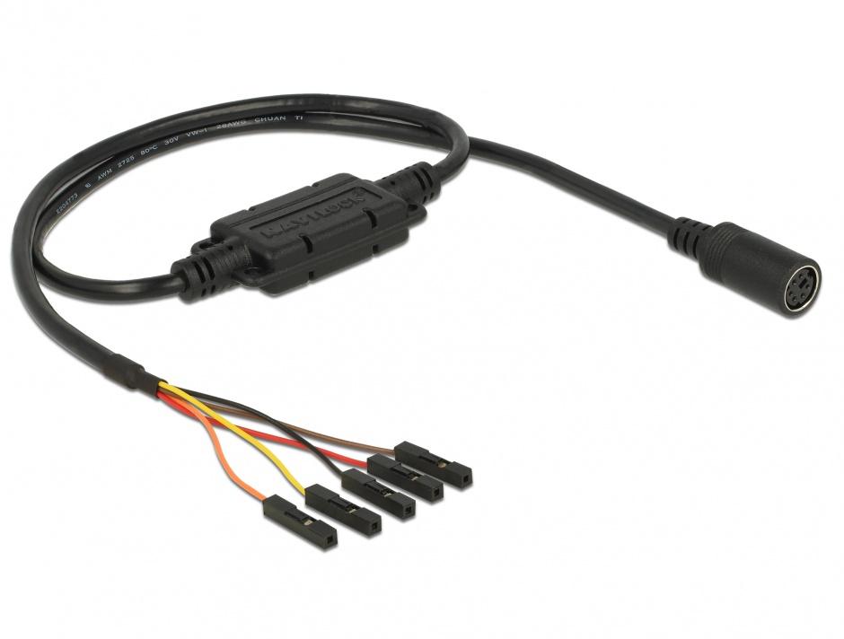 Imagine Cablu MD6 socket serial la 5 pini pitch 2.54 mm LVTTL (3.3 V) 52cm, Navilock 62929