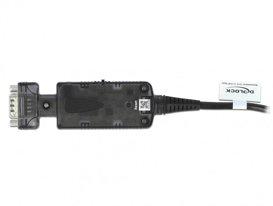 Imagine Adaptor LAN RJ45 la serial RS-232 DB9 M-T, Delock 62976