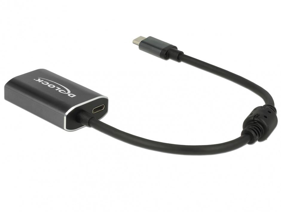 Imagine Adaptor USB-C la VGA (DP Alt Mode) T-M cu PD (Power delivery), Delock 62989