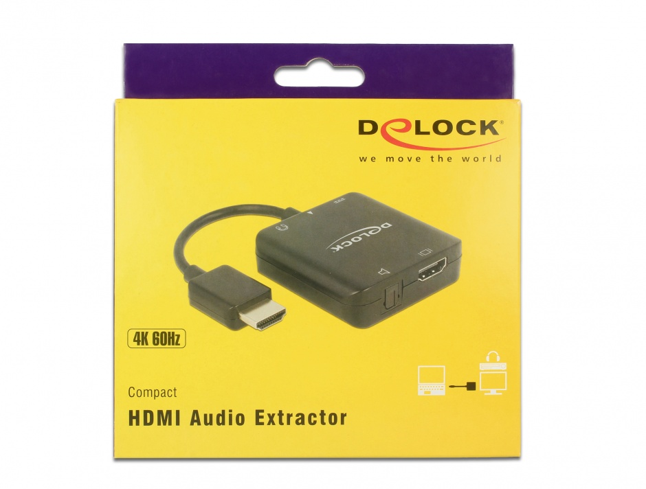 Imagine Extractor audio HDMI 4K 60 Hz compact, Delock 63276