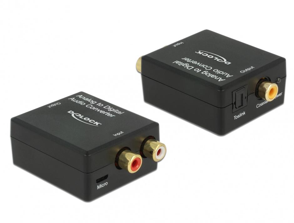 Imagine Convertor audio analog RCA la digital S/PDIF HD, Delock 63468