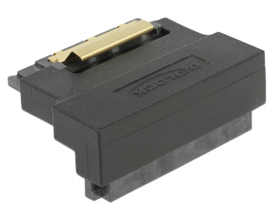 Imagine Adaptor SATA 22 pini T-M unghi 90 grade jos, Delock 63943