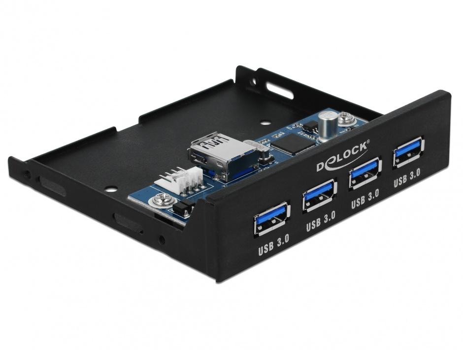 "Imagine Front panel 3.5"" cu 4 porturi USB 3.0, Delock 63961"