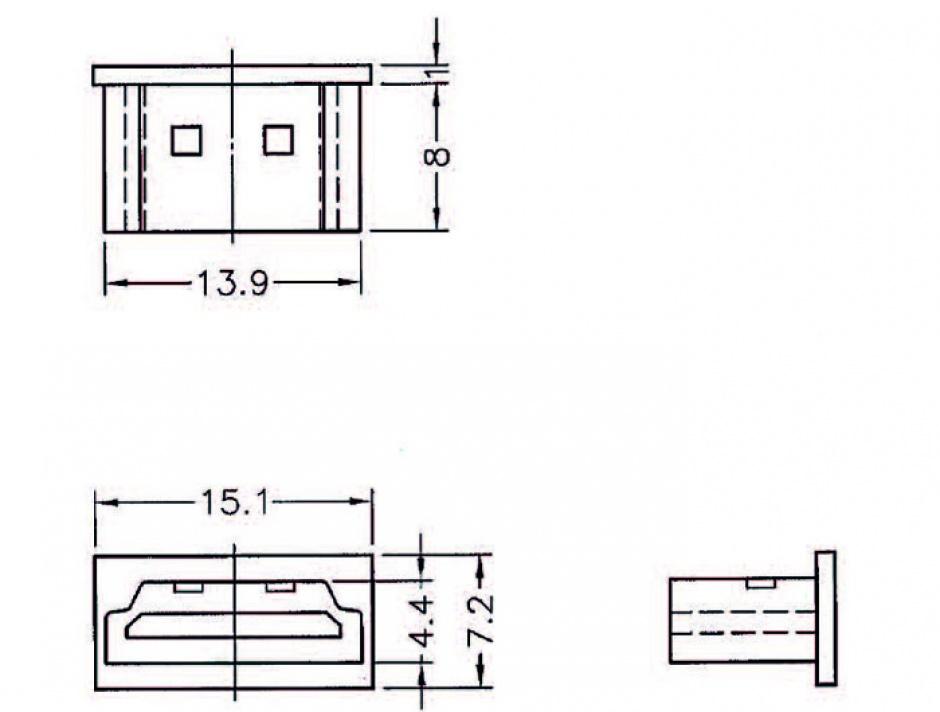 Imagine Protectie impotriva prafului pentru conector HDMI-A Negru set 10 buc, Delock 64030